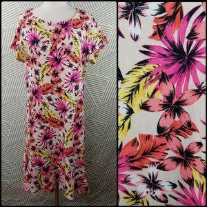 Lands' End Plus Size 1X 16/18 Dress hawaiian